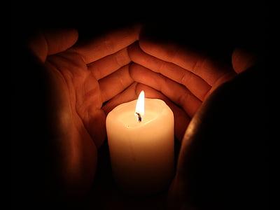 macro photography of white pillar candle