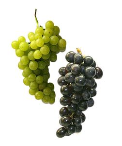 green and purple bunch of grapes