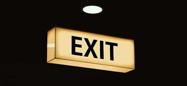 lighted exit signage
