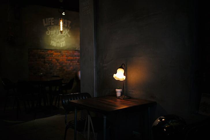 table lamp turn on on table
