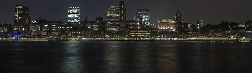 landscape photography of cityscape during night time