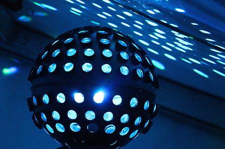 lit disco ball