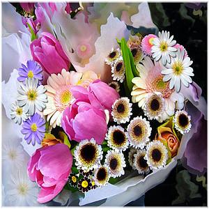 assorted-color flowers bouquet