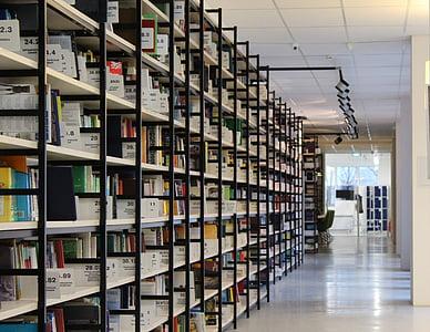 white library interior