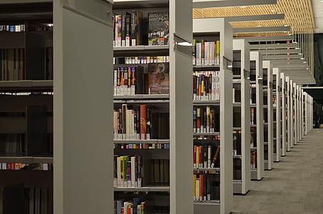 view of bookshelves inside room
