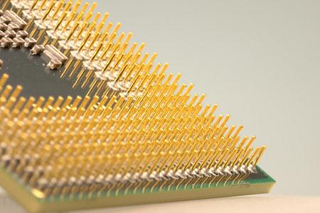 macro photograph of computer processor
