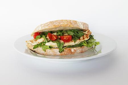 vegetable sandwich in plate