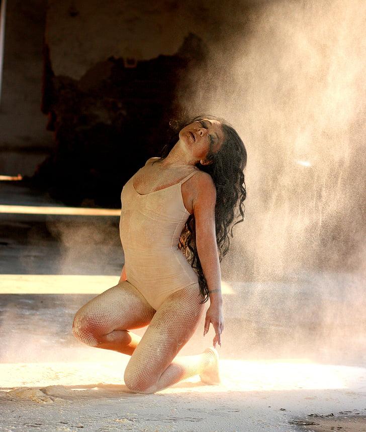dancer, flour, motion, ballet, sensual, girl