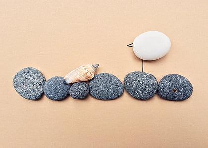 six black stones