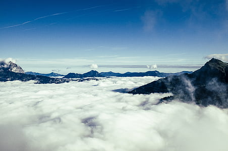 landscape photography of sea of clouds