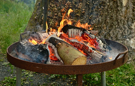 bonfire on fire pit