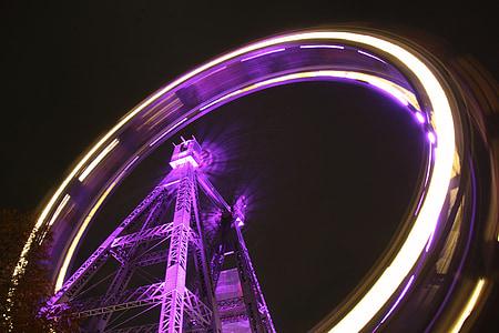 time lapse photography amusement park ride