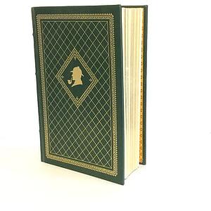 green hardbound book