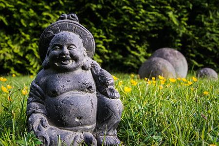 buddha sculpture on green grass field