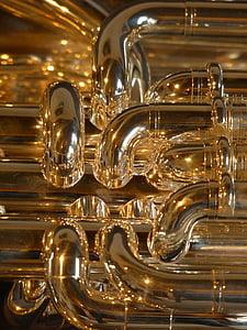 euphonium, brass instrument, instrument, sheet, music, bugle