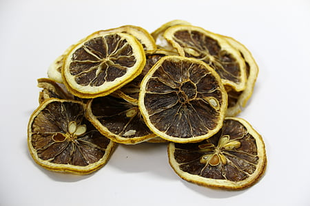 sliced dried lemons