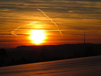 black island under sun rise