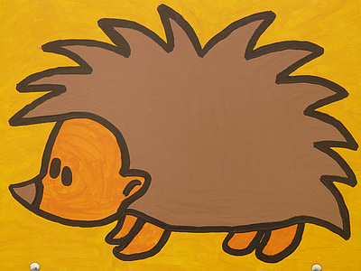 brown porcupine illiustration