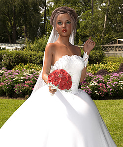 woman wearing white tube wedding dress