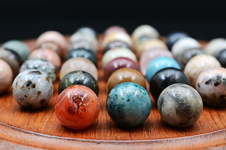 assorted-color marble balls inline