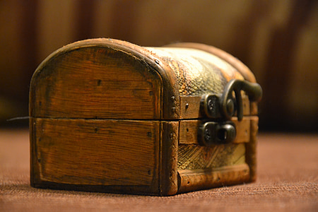 brown wooden chest box