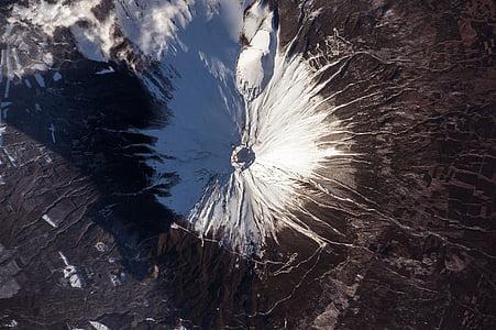 mount fuji, japan, landscape, landmark, snow, space