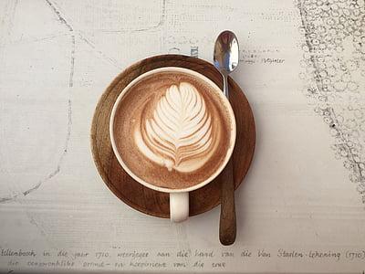 coffee latte on mug