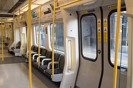 white train interior