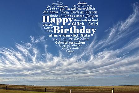 happy birthday in heart text