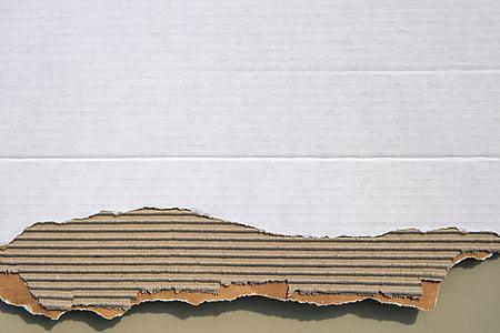 brown and white cardboard box