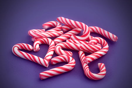 red-and-white candy canes