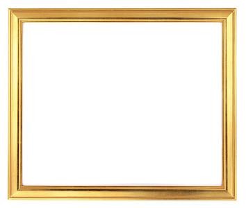 square gold frame