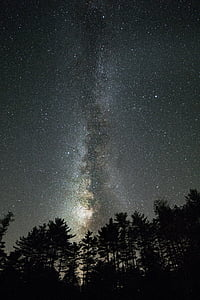 low angle photography of milky way at night time