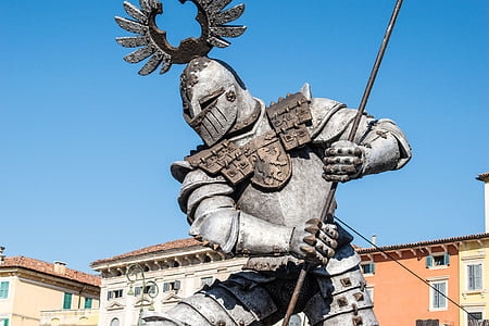 photography of spartan gladiator statue