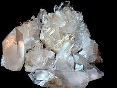 white crystal geode stone