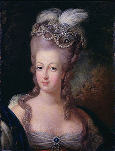 woman with white fur headdress painting