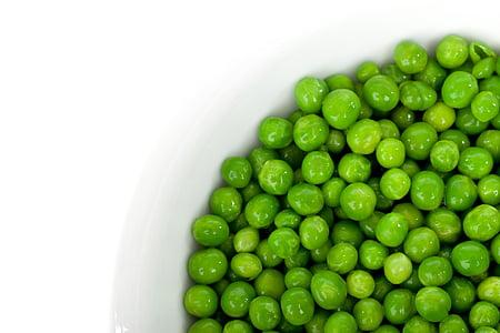 green peas in white bowl