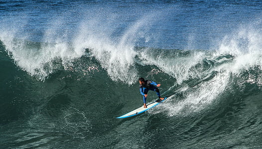 man doing surfing on ocean wave