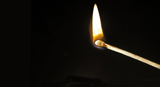 matchstick with fire