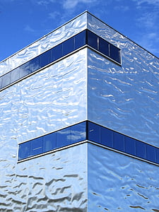 silver glass building