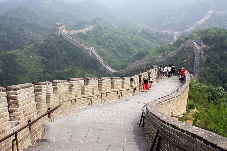 people walking on Great Wall of China