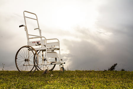 gray medical wheelchair