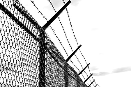 cyclone wire fence with barb wire