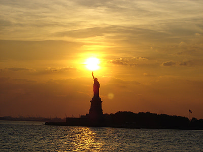 Statue of Liberty, New York during sunset