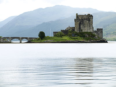 castle on body of water