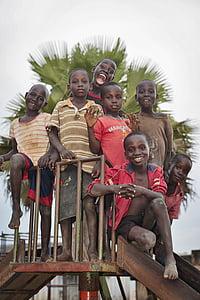 seven boys on slide