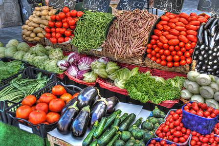 assorted vegetables display