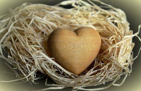 brown heart decor