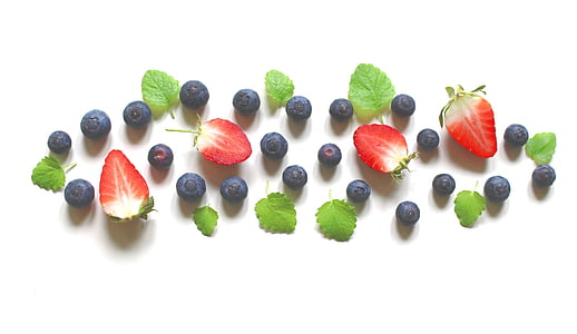 berries and strawberries fruits