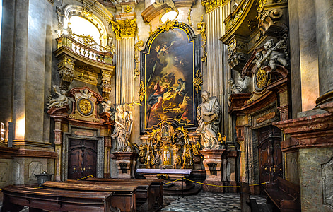 religious statue on hall